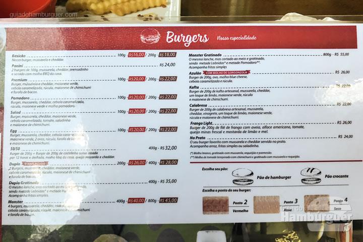 Cardápio de burgers - Nossa Carne