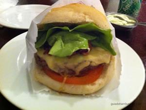 Cheese salada (x-salada) bacon com hambúrguer de 160g