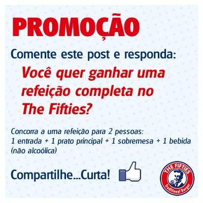 Participe da promoção pelo Facebook