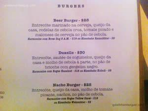 Cardápio - Vapor Burger & Beer