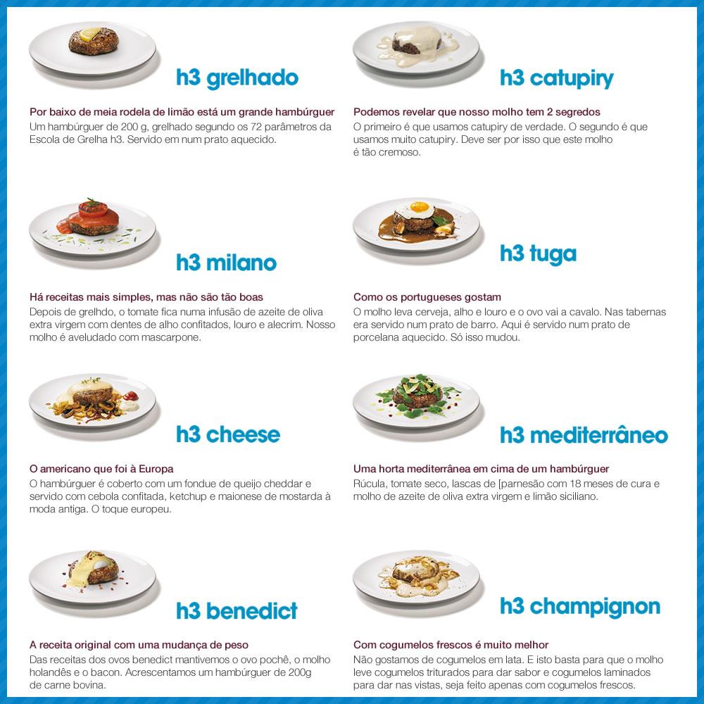 Promoção hamburgueria h3 - Escolha o prato mais desejado