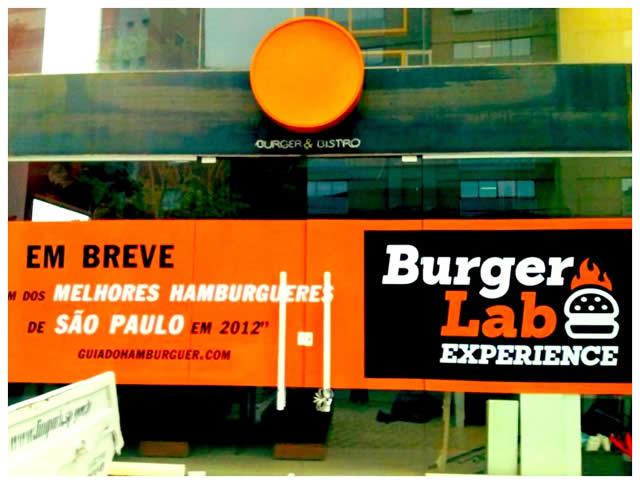 Burger Lab Experience - fachada provisória