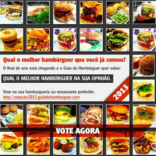 VOTAÇÃO: Qual o melhor hambúrguer que você já comeu?