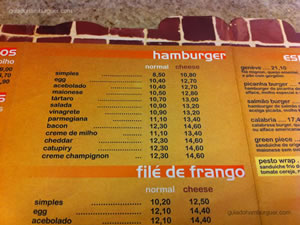 Cardápio - Chicohamburger (Moema)