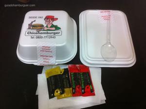 Embalagem para viagem - Chicohamburger (Moema)
