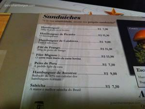 Cardápio - Hamburgueria Santista (Boqueirão) em Santos