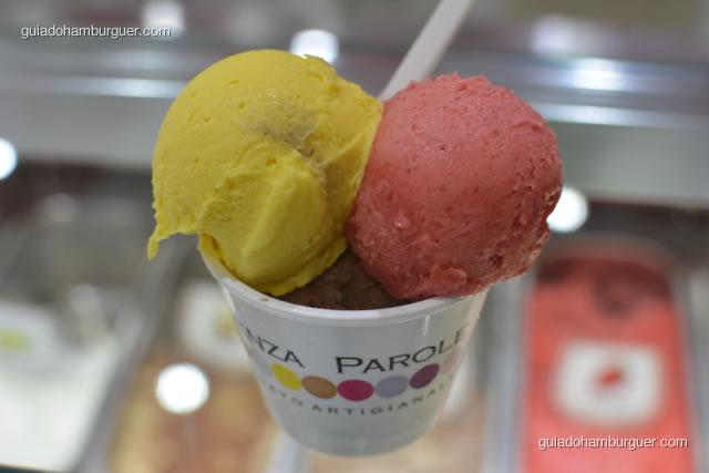 Detalhe do sorvete - Hamburgueria da Mooca
