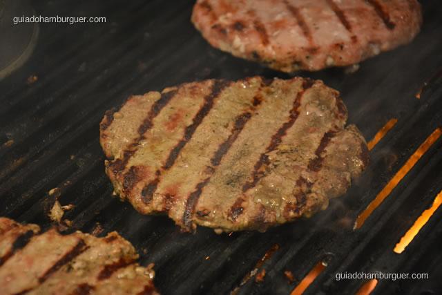 Detalhes do hambúrguer - Paulista Burger
