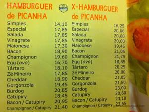 Cardápio de hambúrgueres de picanha - Burdog