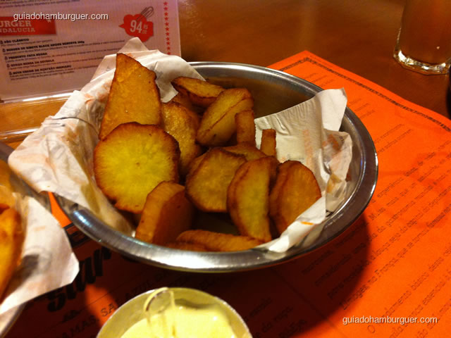 Porção de batatas doces