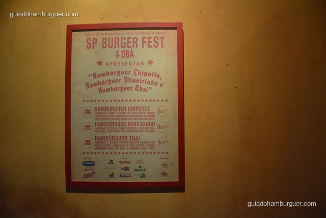 Quadro do SP Burger Fest e as receitas - Obá