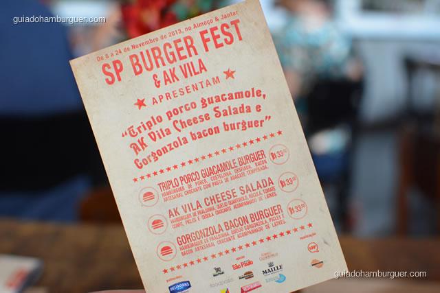 As três receitas dos hambúrgueres do festival - AK Vila