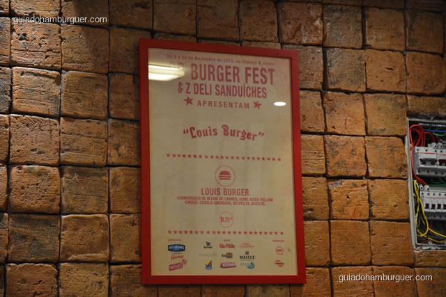 Quadro com a receita do SP Burger Fest - Z Deli Sanduíches