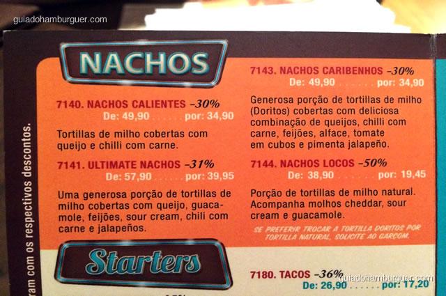 Nachos em 4 versões - Mustang Sally