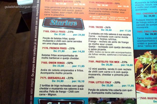 Entradas variadas com direito a porções tradicionalmente mexicanas - Mustang Sally