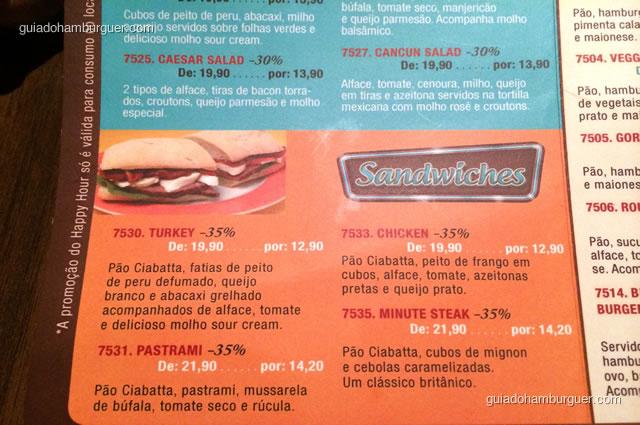 Dos sanduíches o que mais chamou a atenção foi o Pastrami - Mustang Sally