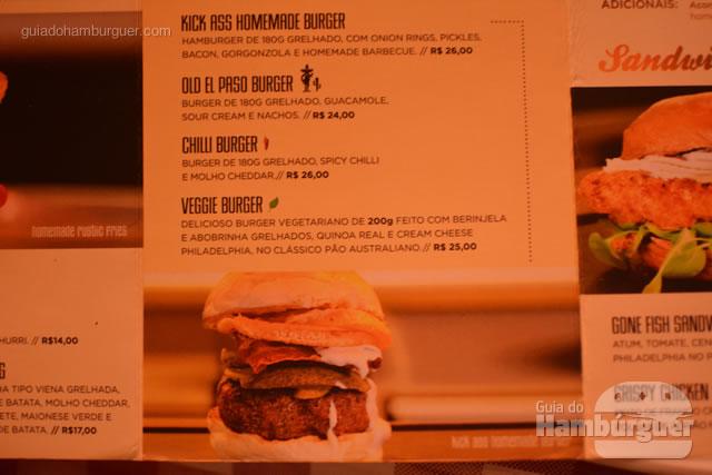 Hambúrgueres do cardápio - Cadillac Burger