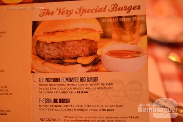 Hambúrgueres especiais - Cadillac Burger