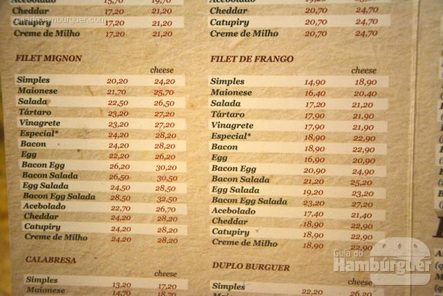 Filet Mignon e de frango também fazem parte do cardápio - Osnir Hamburger
