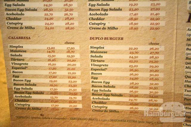 Hambúrguer duplo ou de calabresa completam a variedade - Osnir Hamburger