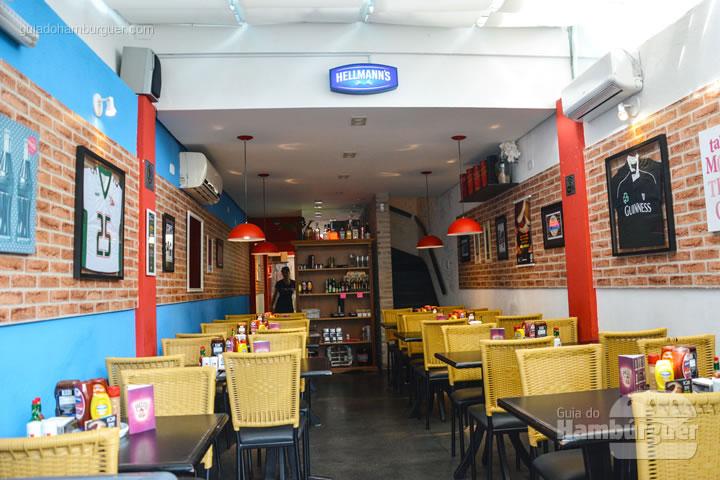 Ambiente da nova loja na Granja Julieta- I Love Burger