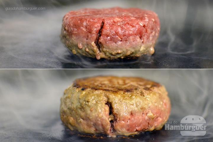Novo estilo de hambúrguer com 180g e moldado na hora - Desafio Chip's Burger