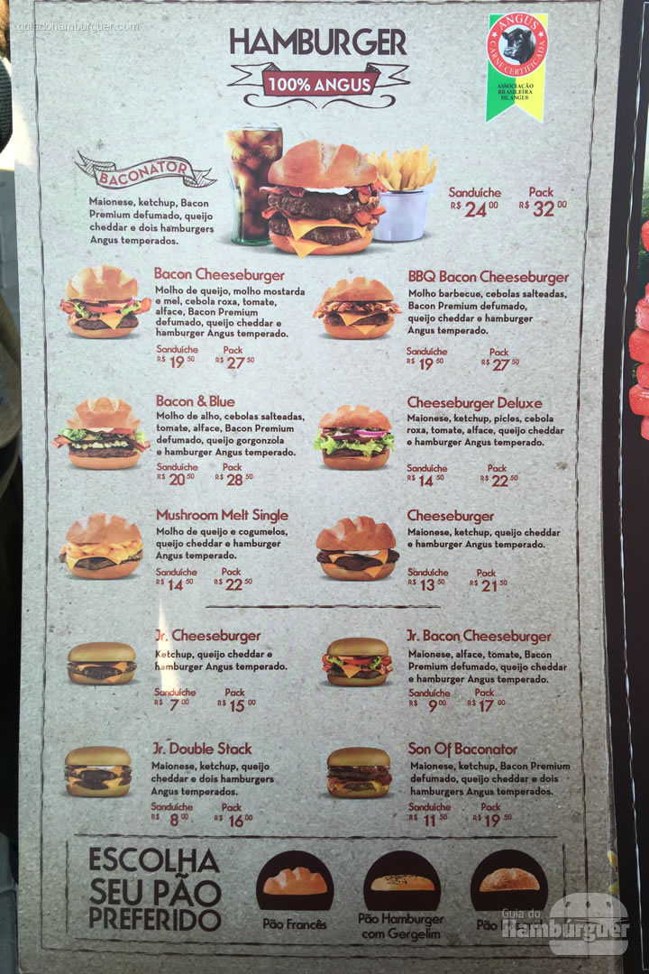 Cardápio de hambúrguer - Wendy's abre sua primeira loja em São Paulo