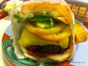 Cheese salada (x-salada) com hambúrguer de fraldinha de 220g com maionese a parte - Zé do Hamburger