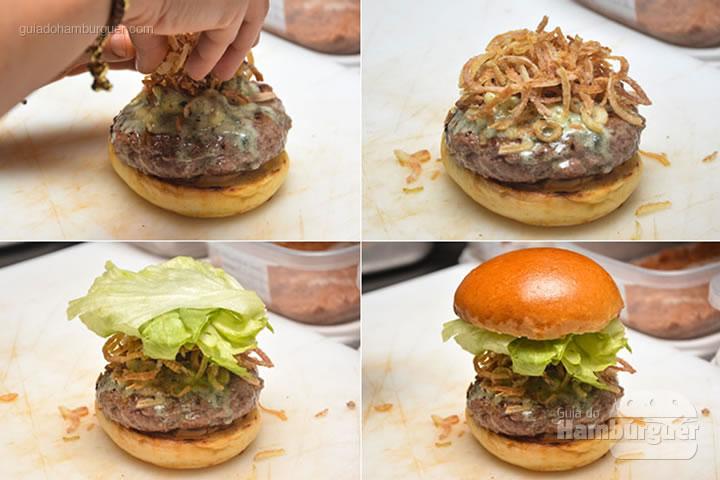 Montagem do Blue Cheese - Red Nose Burger & Hot Dog