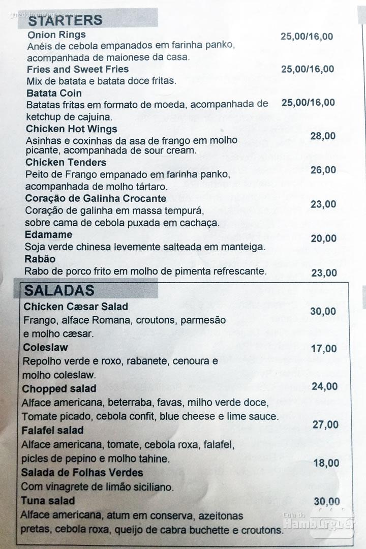 Entradas e saladas - Meats