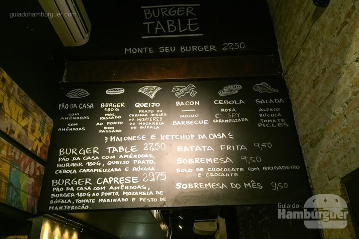 Burger table campo belo guia do hamb rguer for Table burger