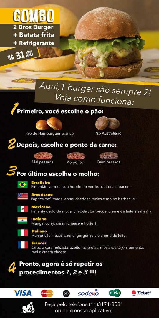 Cardápio - All Bros Burger