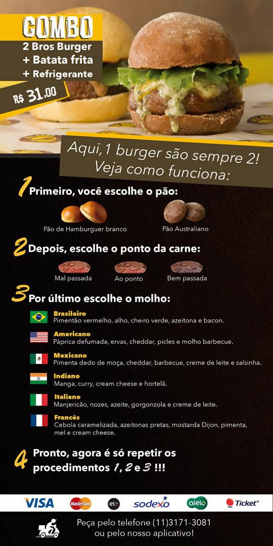 Cardápio - All Bros Burger