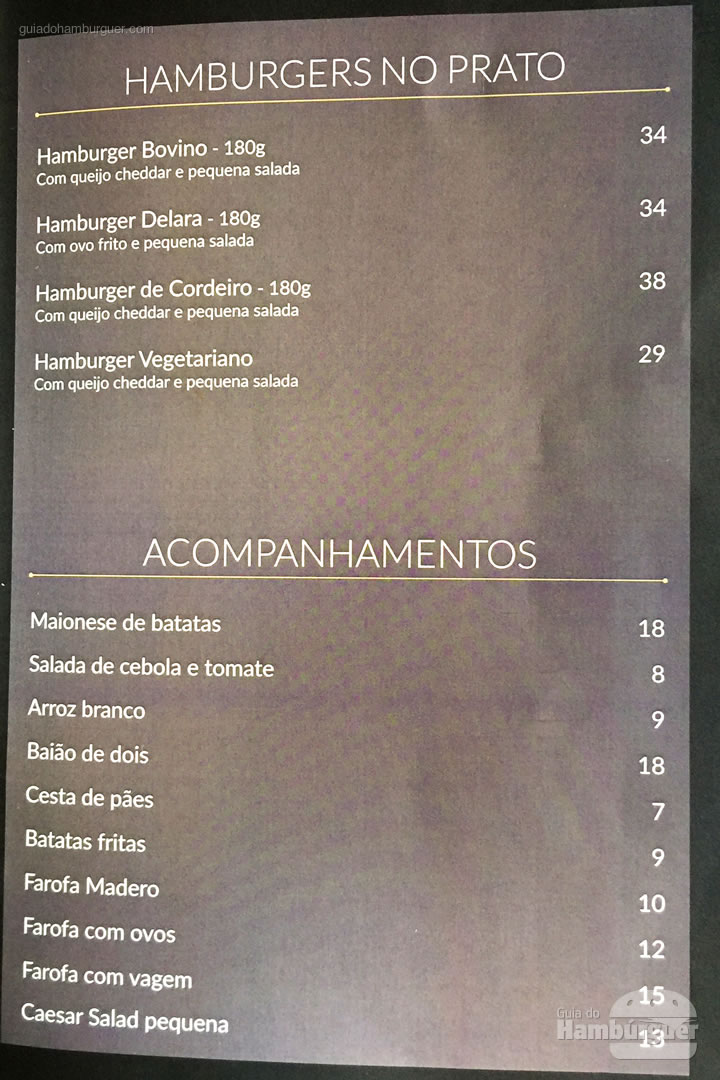 Cardápio - Madero Steak House