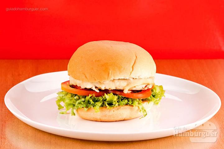 Burger chicken carne de frango por R$ 24,00 - Houston