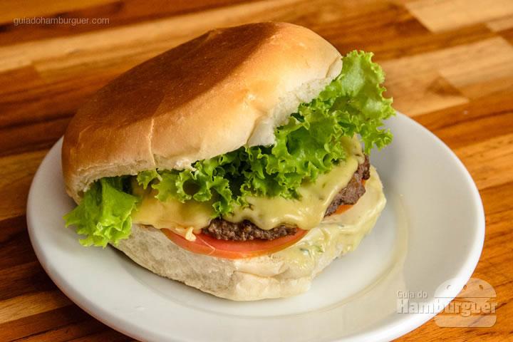Cheese salada hambúrguer, queijo e salada por R$ 21,70 - Hamburguinho
