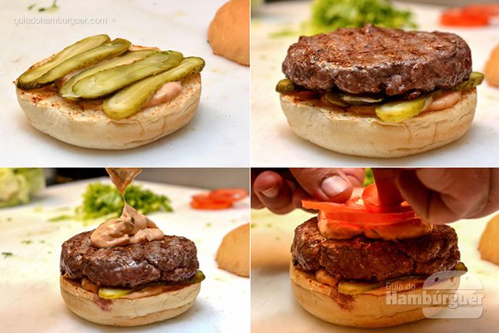 Montagem - M.A.T. o hambúrguer com molho secreto, alface e tomate chega à Lanchonete da Cidade