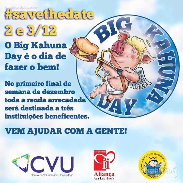 Save the date - Big Kahuna Day: faça o bem!