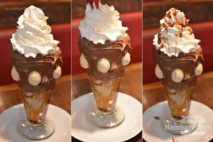 Finalizando com calda de caramelo - Sheriffs Burger