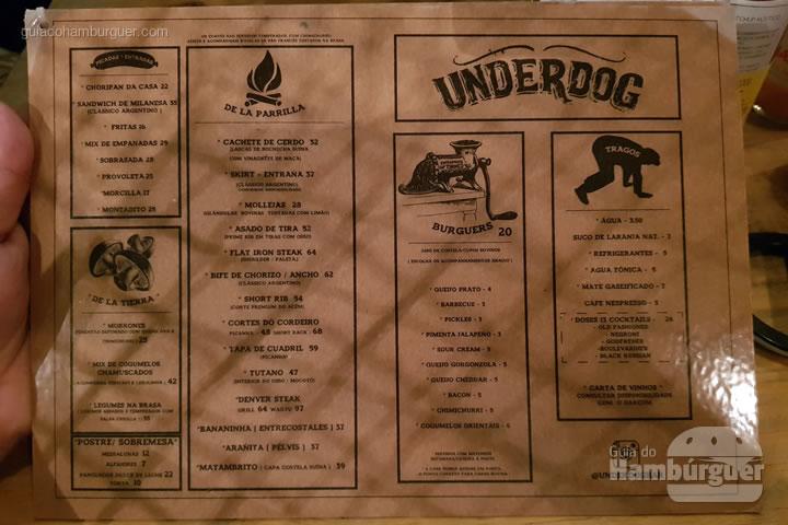 Cardápio - Underdog