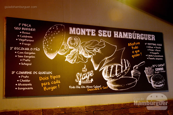 Monte seu hambúrguer - Stage Burger