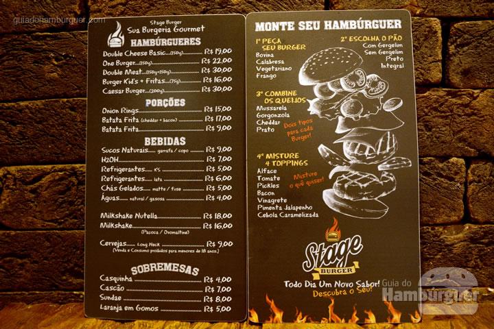 Cardápio - Stage Burger