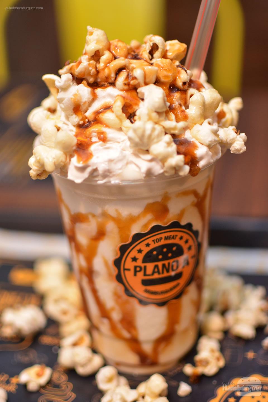 Milkshake de pipoca - Plano A Hamburgueria