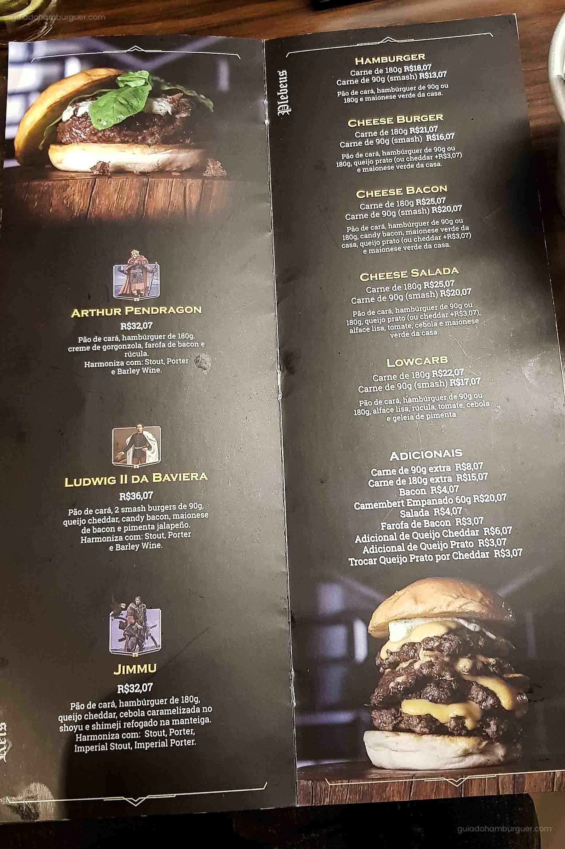 Cardápio - Seven Kings Burger - Santos