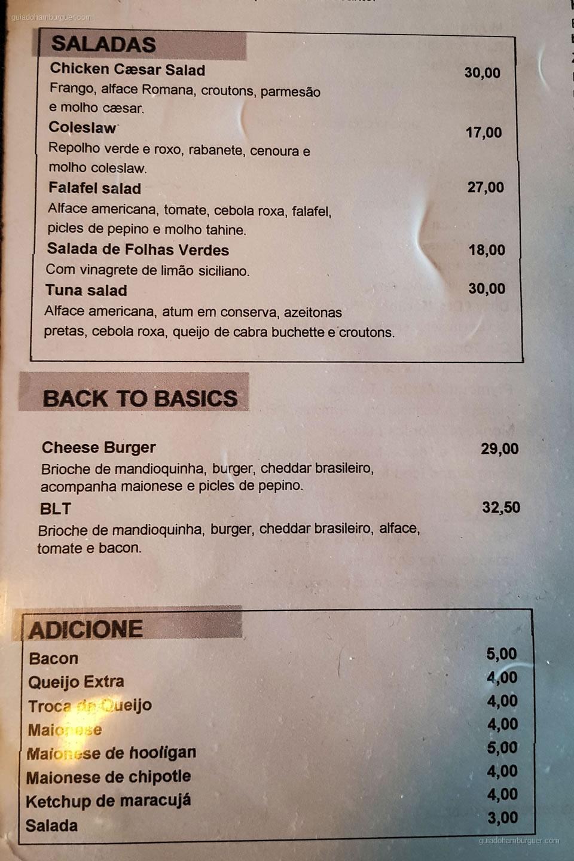 Cardápio - Meats - Pinheiros - São Paulo