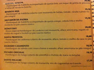 Cardápio - Santo Hambúrguer