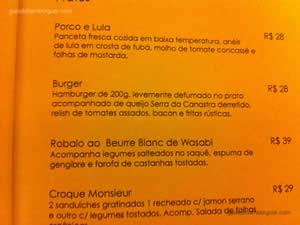 Cardápio - Rothko Restaurante