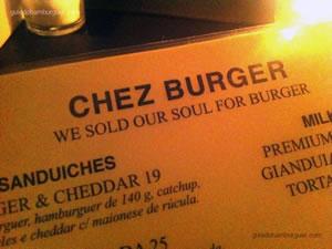 Cardápio - Chez Burger