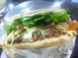 Cheese bacon salada com cebola frita e maionese à parte - Sorveteria e Lanchonete Ypê