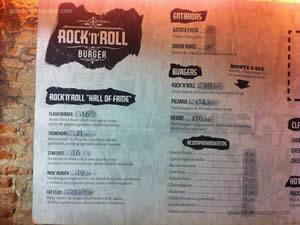 Cardápio - Rock'n'Roll Burger
